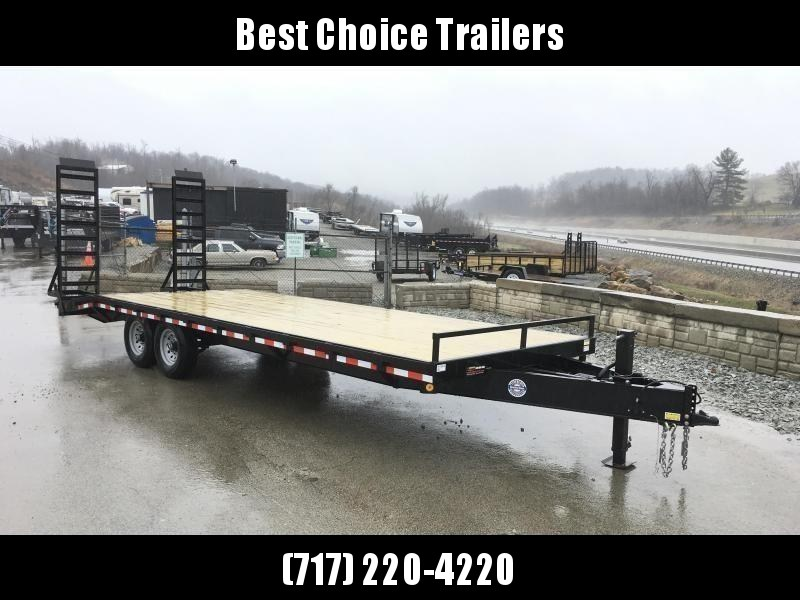 """2020 QSA 102x24 Beavertail Flatbed Deckover Trailer 14000# GVW * OVERLENGTH STAND UP RAMPS * WOOD DOVETAIL * I-BEAM FRAME * LED'S * POWDERCOATED * 16"""" O.C. CHANNEL C/M * 6"""" CHANNEL SIDE RAIL * LOW LOAD ANGLE"""