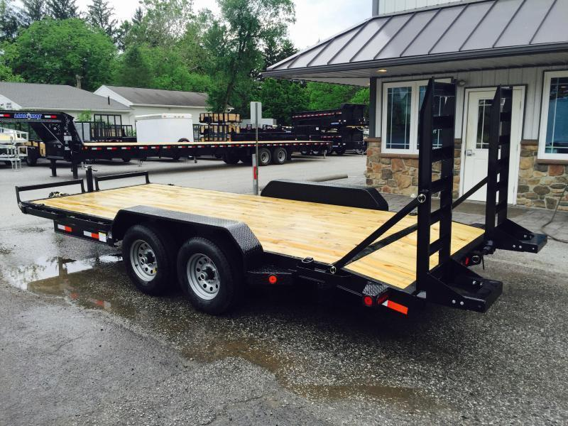 2019 Ironbull 7x16' Lowboy Equipment Trailer 9990# GVW STAND UP RAMPS * CLEARANCE