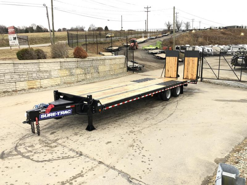 2020 Sure Trac  102x24+7.5' Air Brake Beavertail Deckover Trailer 49000# GVW * ST102245ABDO2A-B-490 * AIR RAMPS 40x80 * 7.5' DOUBLE BROKE BEAVERTAIL