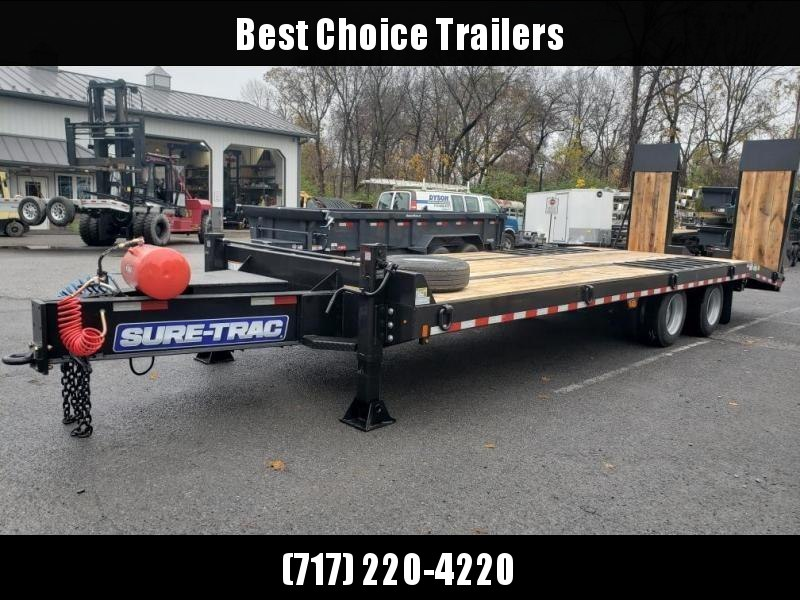 2020 Sure Trac  102x22+5' Air Brake Beavertail Deckover Trailer 49000# GVW * ST102225ABDO2A-B-490 * AIR RAMPS 30x80