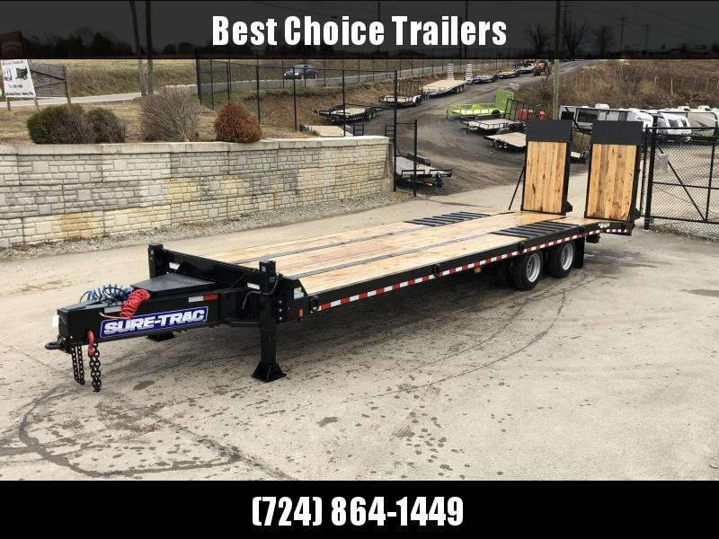 2020 Sure Trac  102x22+7' Air Brake Beavertail Deckover Trailer 49000# GVW * ST102245ABDO2A-B-490 * AIR RAMPS 40x80 * 7.5' DOUBLE BROKE BEAVERTAIL