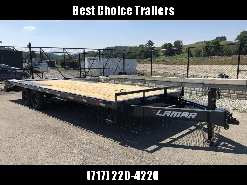 2019 Lamar F8 102x24' Beavertail Deckover Trailer 14000# GVW * FLIPOVER RAMPS * CHARCOAL * POP UP DOVE * CLEARANCE