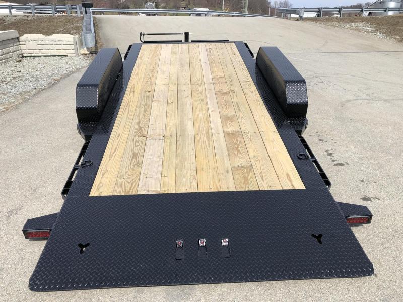 2019 Ironbull 7x16+4 Gravity Tilt Equipment Trailer 14000# TORSION * STOP VALVE * CLEARANCE