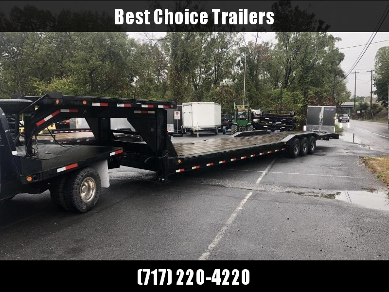 """USED 2019 Ironbull 102x44' Gooseneck Car Hauler Trailer 21000# * DECK OVER THE NECK * ALUMINUM WHEELS * SPARE * 14-PLY TIRES * WINCH PLATE * 102"""" DECK * DRIVE OVER FENDERS"""