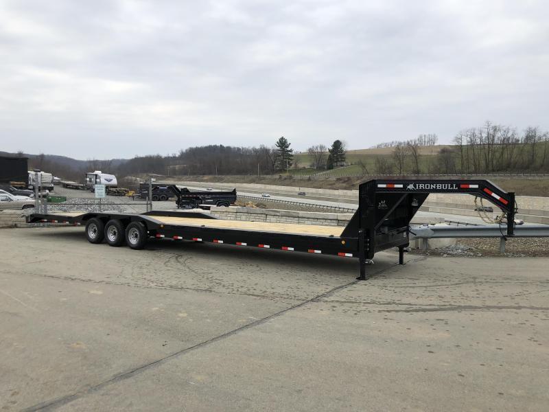 """2020 Ironbull 102x44' Gooseneck Car Hauler Equipment Trailer 21000# * 102"""" DECK * DRIVE OVER FENDERS * 4' DOVETAIL"""