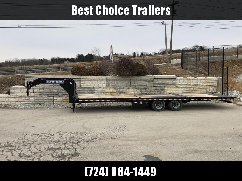 "2020 Sure-Trac 102x22+10' Gooseneck Hydraulic Dovetail Deckover Trailer 22500# GVW * 10' DOVETAIL * DUAL 5"" LIFT CYLINDERS * PIERCED FRAME * CROSS TRAC BRACING * RUBRAIL/STAKE POCKETS/PIPE SPOOLS/10 D-RINGS * LOW LOAD ANGLE!!"