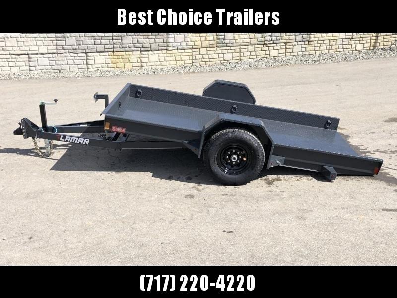 "2020 Lamar 59x10' Single Axle Scissor Hauler Gravity Tilt Equipment Trailer 7000# GVW * 7000# TORSION AXLE* STEEL FLOOR 3/16 * WRAPPED SIDES * EXTRA D-RINGS * SPARE MOUNT * CHARCOAL * FULL FRAME * 16"" 10-PLY TIRES * ADJUSTABLE COUPLER * DROP JACK"