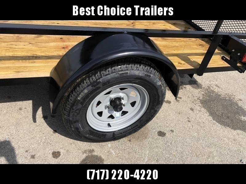 "2020 AMO 78x12' Utility Landscape Trailer 2990# GVW * 4' GATE * TOOLESS GATE REMOVAL * 3500# AXLE * 15"" RADIAL TIRES"