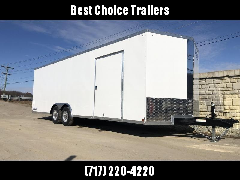 2020 Sure-Trac 8.5x24' Enclosed Car Trailer 9900# GVW * WHITE * 7K DROP LEG JACK * DEXTER TORSION AXLES * BACKUP LIGHTS