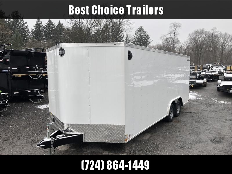 """2020 Wells Cargo 8.5x20' Fastrac DELUXE Enclosed Cargo Trailer 7000# GVW * WHITE EXTERIOR * RAMP DOOR * V-NOSE * .030 EXTERIOR * 6'6"""" HEIGHT * TUBE STUDS * 3/8"""" WALLS * 1 PC ROOF * 16"""" O.C. WALLS * BULLET LED'S"""