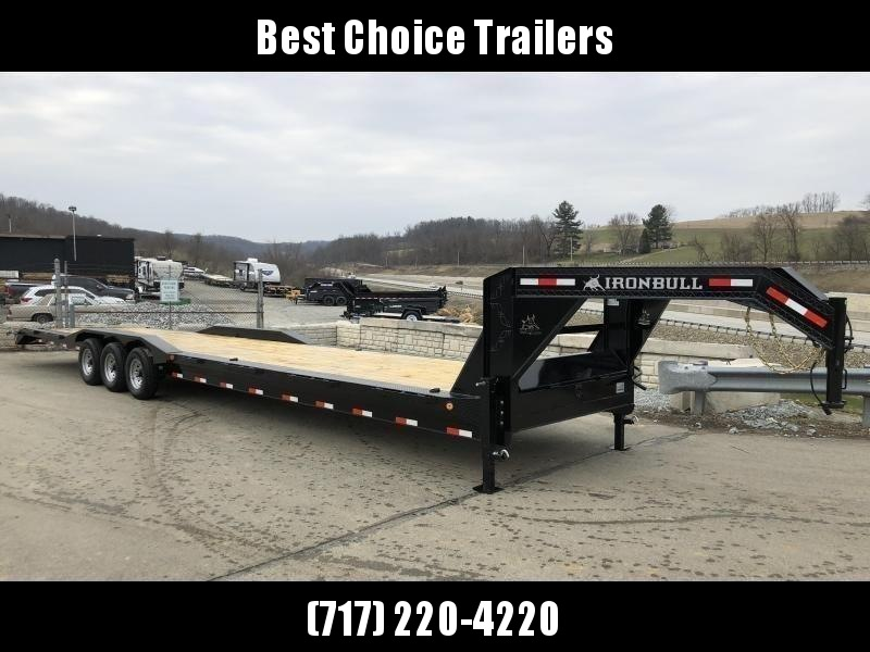 "2020 Ironbull 102x34' Gooseneck Car Hauler Trailer 21000# * FULL WIDTH RAMPS * 102"" DECK * DRIVE OVER FENDERS * DUAL JACKS * FULL TOOLBOX * RUBRAIL/STAKE POCKETS/PIPE SPOOLS/D-RINGS * UNDER FRAME BRIDGE"