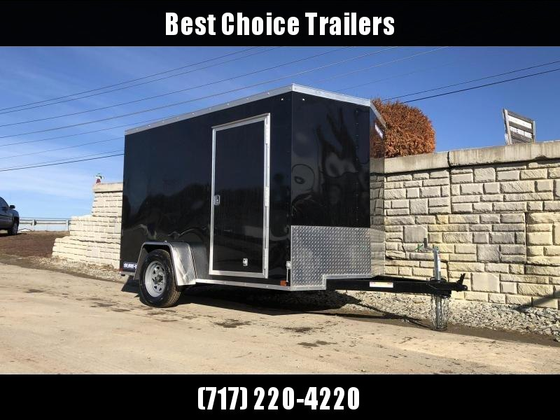 "2020 Sure-Trac 6x10' Enclosed Cargo Trailer 2990# GVW * BLACK EXTERIOR * V-NOSE * RAMP * .030 SEMI-SCREWLESS EXTERIOR * 4"" TUBE FRAME * TUBE STUDS * RV DOOR * BULLET LED'S * UNDERCOATED"