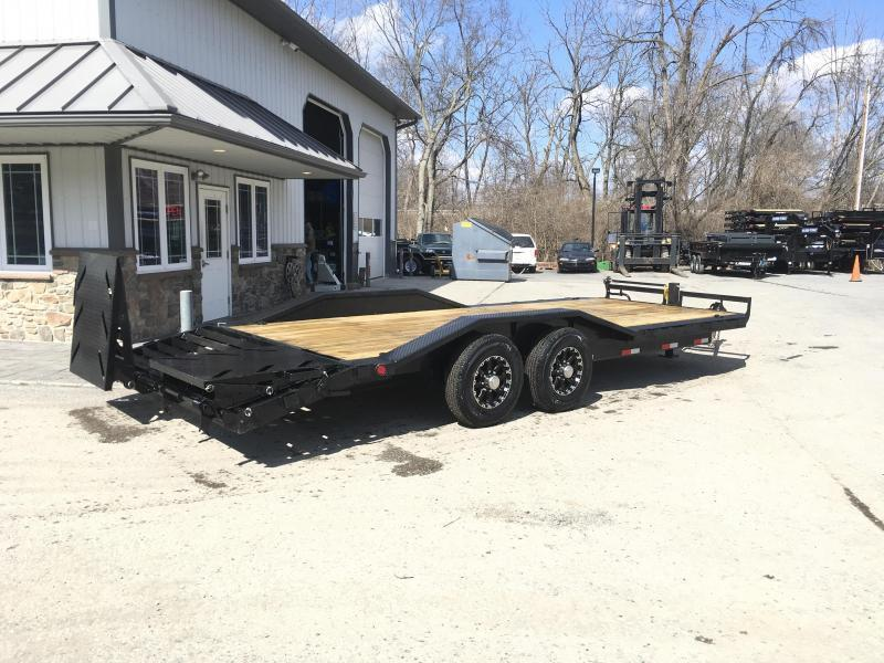 "2019 Ironbull 102""x22' Wood Deck Car Trailer 14000# GVW * FULL WIDTH RAMPS * 102"" DECK * DRIVE OVER FENDERS * BUGGY HAULER * CLEARANCE"
