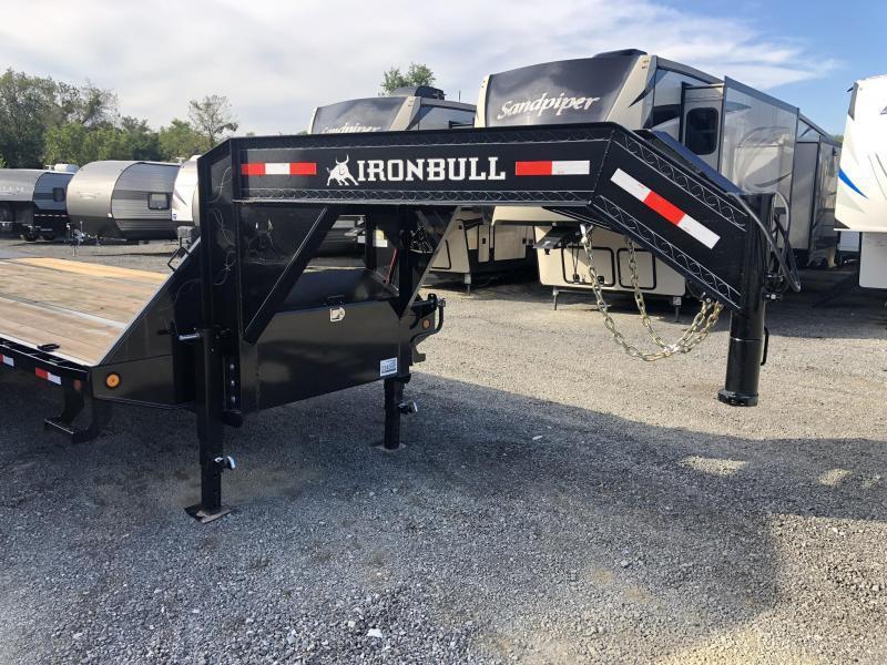 2019 Ironbull 102x40' Gooseneck Beavertail Deckover 25990# GVW * HOT SHOT * 12K DEXTERS * AIR RIDE * ELECTRIC HYDRAULIC BRAKES * FULL WIDTH RAMPS * PIERCED FRAME * SPARE TIRE * UNDER FRAME BRIDGE