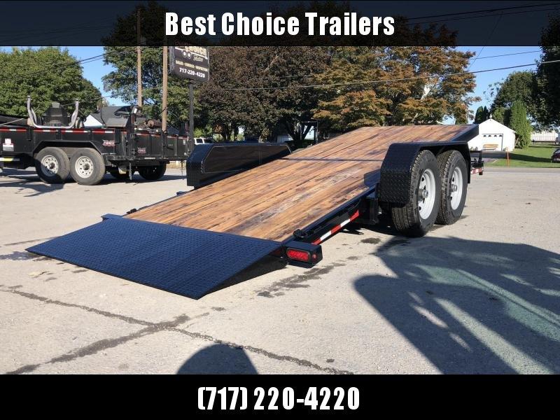 2019 Sure-Trac Tilt Bed Equipment Trailer 7'x18' 14000# * OAK DECK