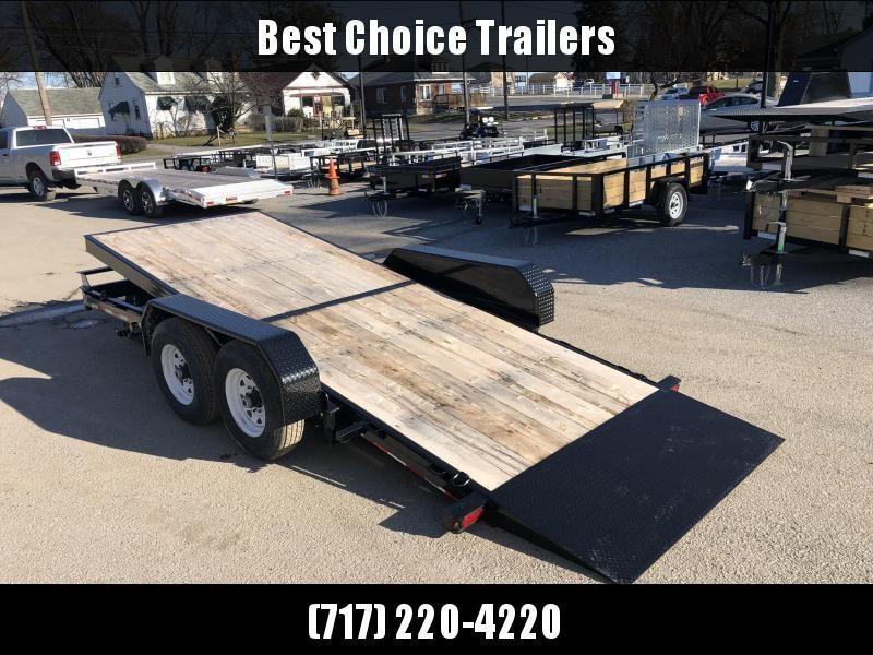 2020 Sure-Trac Tilt Bed Equipment Trailer 7'x18' 14000# * OAK DECK