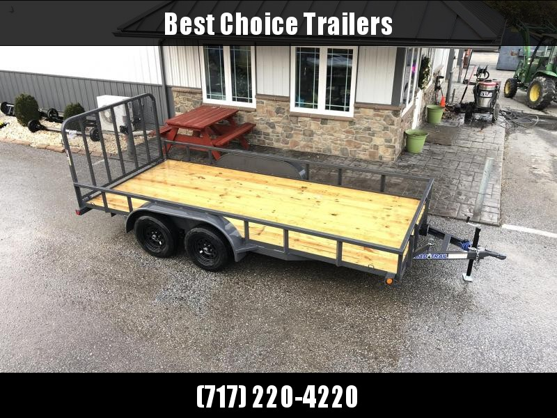 "2020 Load Trail 7x16' Utility Landscape Trailer 7000# GVW * SPARE MOUNT * TUBE TOP * 4"" CHANNEL FULL WRAP TONGUE * TUBE BUMPER * ALL LED'S * TIE DOWNS * TUBE GATE C/M * CAST COUPLER * COLD WEATHER HARNESS * DEXTER'S * PRIMER * 2-3-2 WARRANTY"