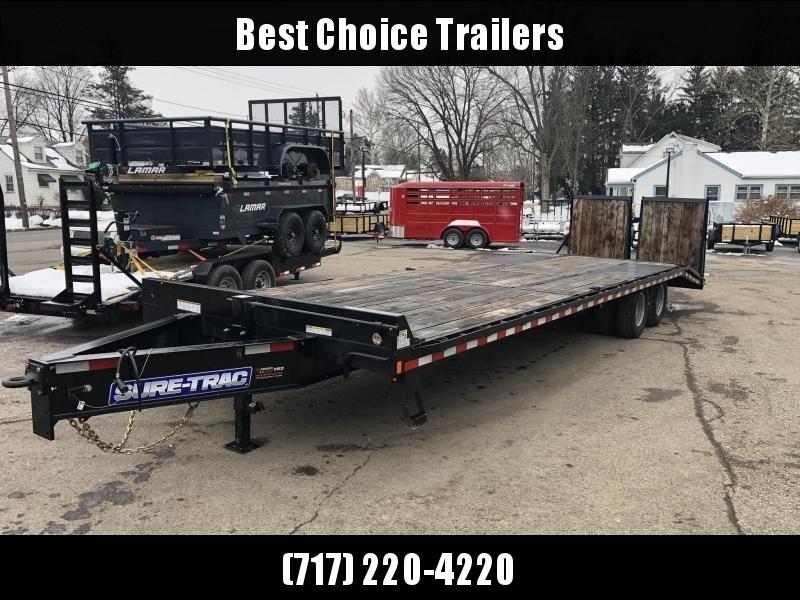 2020 Sure-Trac 102x25+5 22K Pintle Beavertail Deckover Trailer Pierced Frame OAK DECK & RAMPS PAVER TRAILER  * OAK RAMPS/TAIL/DECK * FULL WIDTH RAMPS