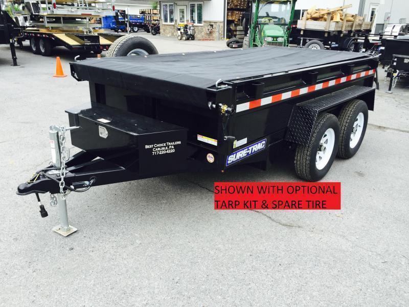 2019 Sure-Trac 8x16' HD Deckover Dump Trailer Fold Down Sides 14000# GVW * CLEARANCE
