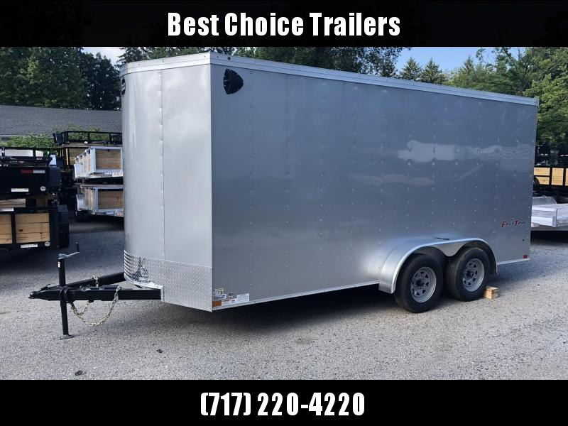 2020 Wells Cargo 7x16' Fastrac DELUXE Enclosed Cargo Trailer 7000# GVW * SILVER * RAMP DOOR * V-NOSE * .030 * 1 PC ALUM ROOF