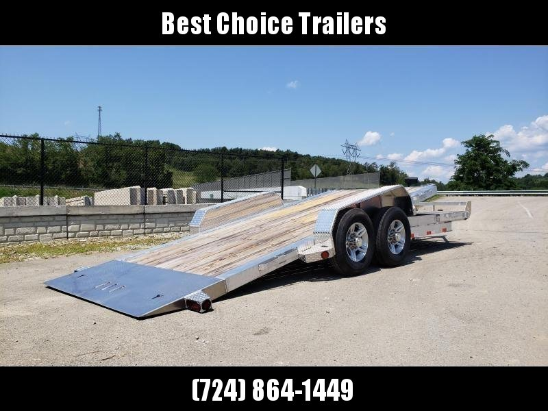 2019 Ironbull 7x20' Aluminum Gravity Tilt Equipment Trailer 14000# GVW * 16+4' SPLIT DECK * STACKED ALUMINUM FRAME * DEXTER TORSION AXLES * STOP VALVE * ALUMINUM WHEELS * RUBRAIL/STAKE POCKETS/CHAIN SPOOLS/D-RINGS * REMOVABLE FENDERS * 12K JACK * CLEARANC
