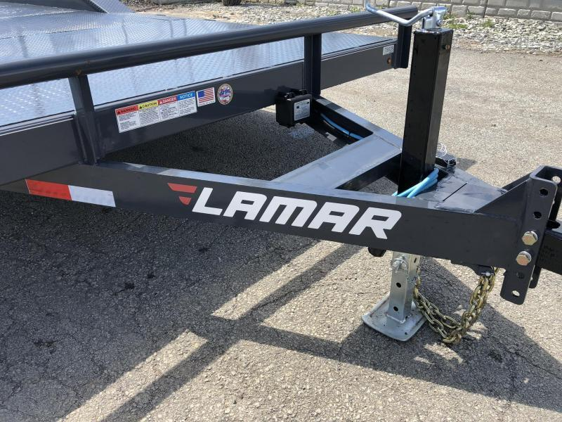 "2020 Lamar 102x22' CC10 Car Trailer 9990# GVW * 102"" DECK * DRIVE OVER FENDERS * STEEL DECK * CHARCOAL POWDERCOATING * 7K DROP LEG JACK"