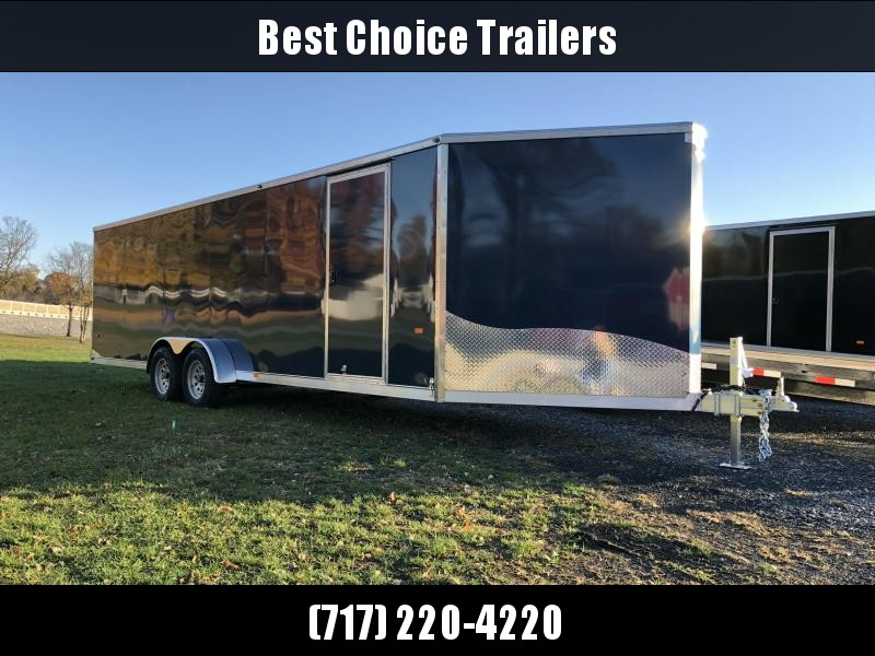 "2019 Neo 7x24' NASF Aluminum Enclosed All-Sport Trailer 7000# GVW * INDIGO BLUE EXTERIOR * FRONT/REAR NXP RAMP * SPORT TIE DOWN SYSTEM * 16"" O.C. FLOOR * PRO STAB JACKS * UPPER CABINET * ALUMINUM WHEELS * SCREWLESS * 1 PC ROOF * CLEARANCE"