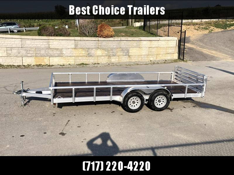 2019 QSA 7x16' Deluxe Aluminum Utility Trailer 7000# GVW * CLEARANCE