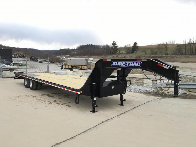 2020 Sure-Trac 102x27+5 22K Gooseneck Beavertail Deckover Trailer * PIERCED FRAME * FULL WIDTH RAMPS