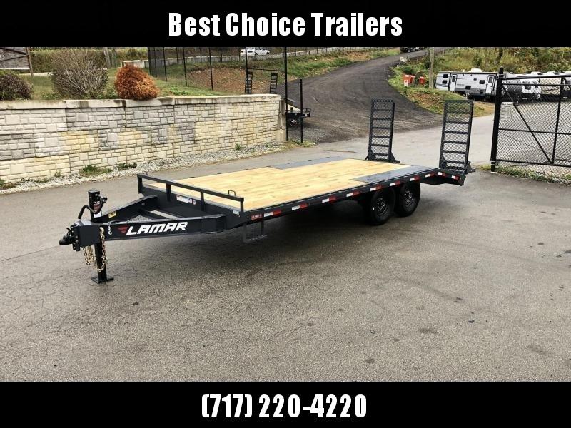 2020 Lamar F8 102x20' Beavertail Deckover Trailer 14000# GVW * DELUXE RAMPS  * CHARCOAL