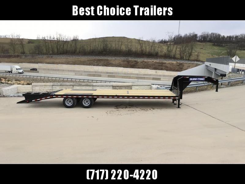 2020 Sure-Trac 102x20+5 22500# Gooseneck Beavertail Deckover Trailer Pierced Frame