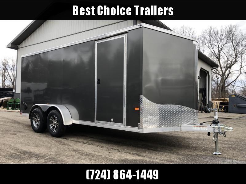 2020 Neo 7x16 NAVF Aluminum Enclosed Cargo Trailer * RAMP DOOR * SIDE VENTS * ALUMINUM WHEELS