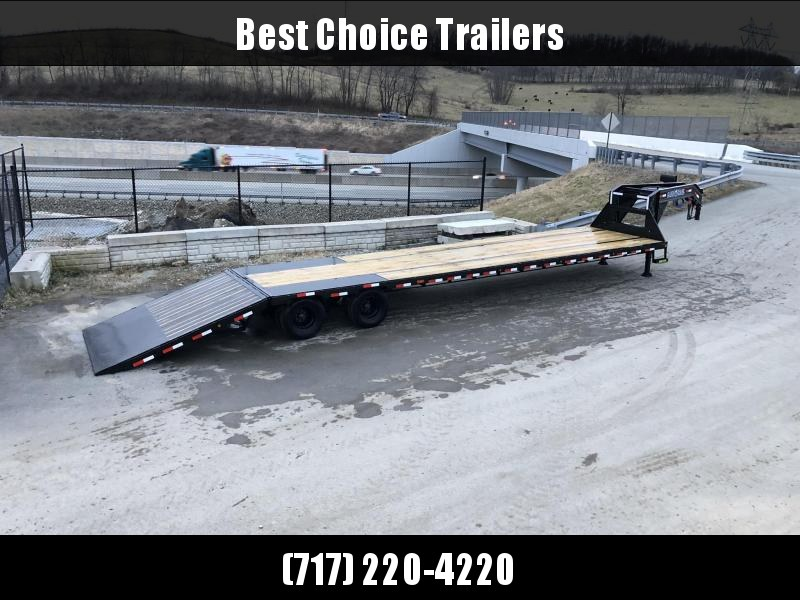 2020 Load Trail 102x40' Gooseneck Deckover Hydraulic Dovetail Trailer 25900# * 12K DEXTER EOH DISC BRAKES * HYDRAULIC DOVETAIL * DUAL HYDRAULIC JACKS * HDSS SUSPENSION * UNDER FRAME & PIPE BRIDGE