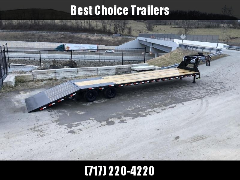2020 Load Trail 102x40' Gooseneck Hydraulic Dovetail Deckover Trailer 25990# GVW * DUAL HYDRAULIC JACKS * DEXTER 12K AXLES * EOH DISC BRAKES * HYDRAULIC DOVETAIL * HDSS SUSPENSION * UNDER FRAME & PIPE BRIDGE * WINCH PLATE * FRONT AND SIDE TOOLBOXES * PIER