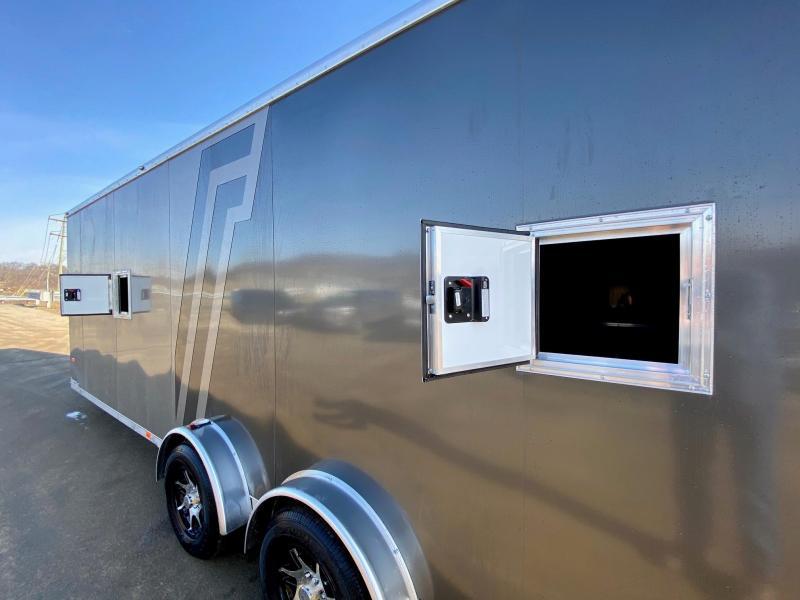2020 Neo 7.5x29' Aluminum Enclosed All-Sport Trailer * 7' HEIGHT - UTV PKG * 2-TONE * FRONT RAMP * LOADED * UTV * ATV * Motorcycle * Snowmobile
