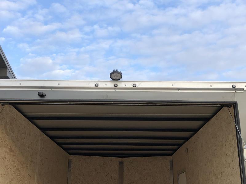 "2020 Sure-Trac 7x14' Enclosed Cargo Trailer 7000# GVW * WHITE * +12"" HEIGHT (7') * 4 D-RINGS * SEMI-SCREWLESS * RV DOOR * TUBE STUDS * HEAVY WALL FRAME * LOADING LIGHT * STABILIZER JACKS * BEAVERTAIL * UTV PACKAGE"