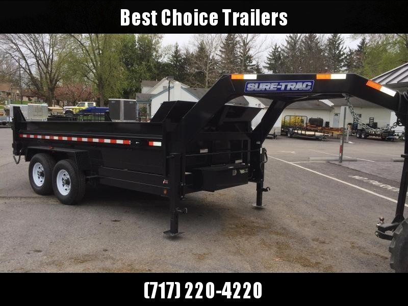 NEW Sure-Trac 7x14' Gooseneck Dump Trailer 14000# GVW * CLEARANCE