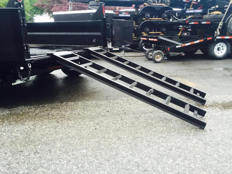 2019 Sure-Trac 8x14' HD Deckover Dump Trailer Fold Down Sides 14000# GVW * CLEARANCE
