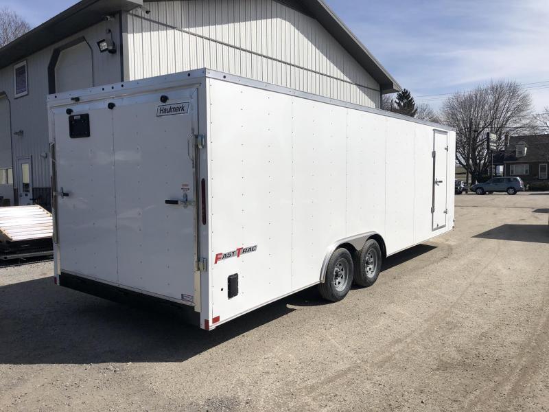 2020 Wells Cargo 8.5x24' Fastrac DELUXE Enclosed Car Trailer 9990# GVW * WHITE EXTERIOR * RAMP DOOR * 5200# AXLE UPGRADE