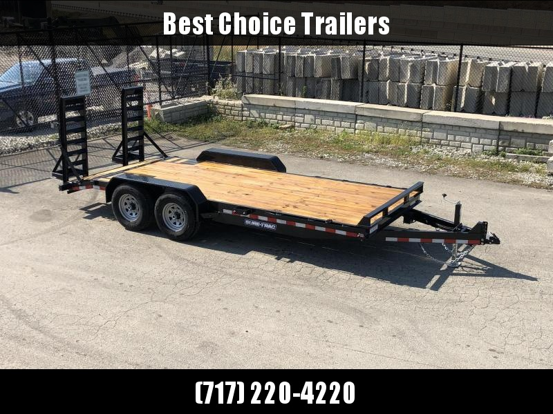 "2020 Sure-Trac Implement 7'x18' Equipment Trailer 14000# GVW * RUBRAIL/STAKE POCKETS/D-RINGS * 4"" RAMPS * SPARE MOUNT * CLEARANCE"