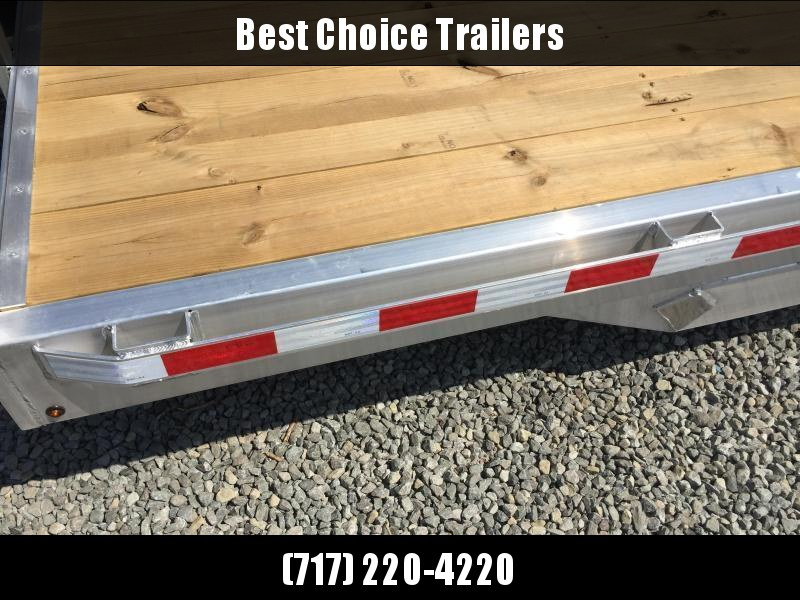 "2019 H&H 7x20' Aluminum Car Hauler Trailer 9990# GVW * HEAVY DUTY 8"" FRAME * EXTRUDED BEAVERTAIL * 7000# DROP LEG JACK * ALUMINUM WHEELS"