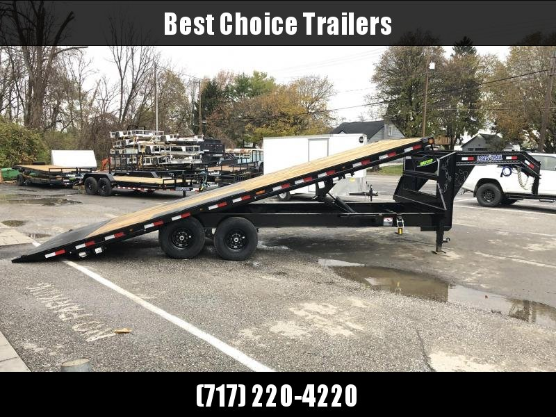 2020 Load Trail 102x24' Gooseneck Deckover Power Tilt Flatbed Trailer 14000# GVW * GE0228072 * SCISSOR * I-BEAM BEDFRAME * SIDE TOOLBOX * DUAL JACKS