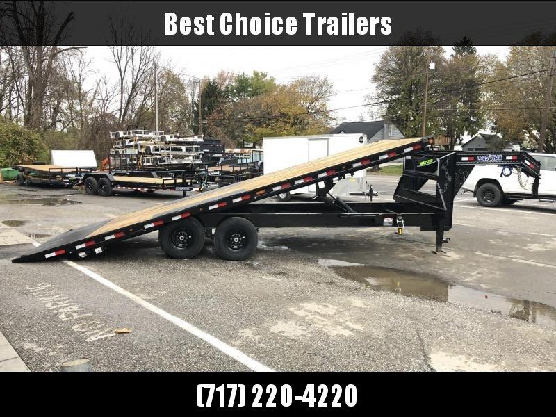 2020 Load Trail 102x24' Gooseneck Deckover Power Tilt Flatbed Trailer 14000# GVW * GE0228072 * SCISSOR * I-BEAM BEDFRAME * SIDE TOOLBOX * DUAL JACKS