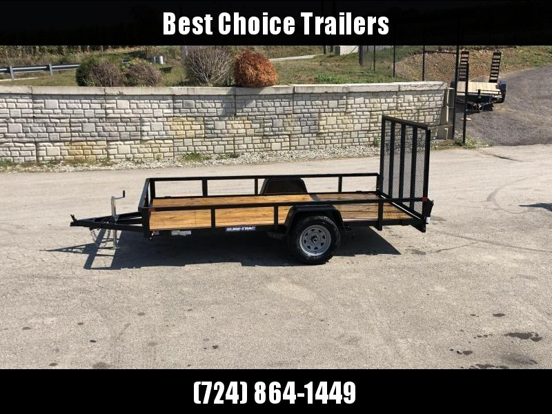 "2020 Sure-Trac 6x10' Tube Top Utility Landscape Trailer 2990# GVW * 2"" TUBE TOP RAIL * 2X2"" TUBE GATE C/M + SPRING ASSIST + FOLD FLAT * TOOLESS GATE REMOVAL * SPARE MOUNT * PROTECTED WIRING * SET BACK JACK * TRIPLE TUBE TONGUE * STAKE POCKETS * BULLET LED"