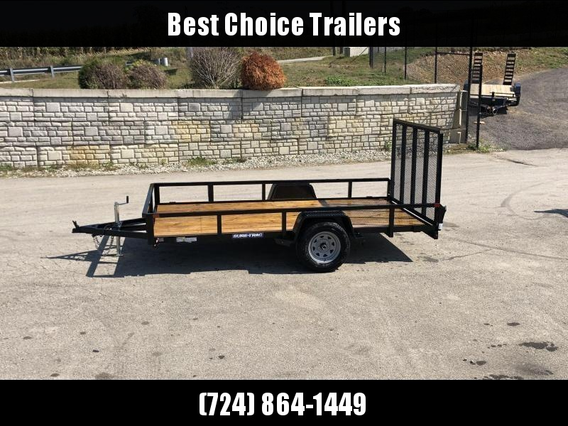 """2020 Sure-Trac 6x10' Tube Top Utility Landscape Trailer 2990# GVW * 2"""" TUBE TOP RAIL * 2X2"""" TUBE GATE C/M + SPRING ASSIST + FOLD FLAT * TOOLESS GATE REMOVAL * SPARE MOUNT * PROTECTED WIRING * SET BACK JACK * TRIPLE TUBE TONGUE * STAKE POCKETS"""