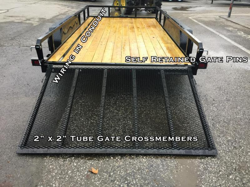 2020 Sure-Trac 7x18' Tube Top Utility Landscape Trailer 7000# GVW