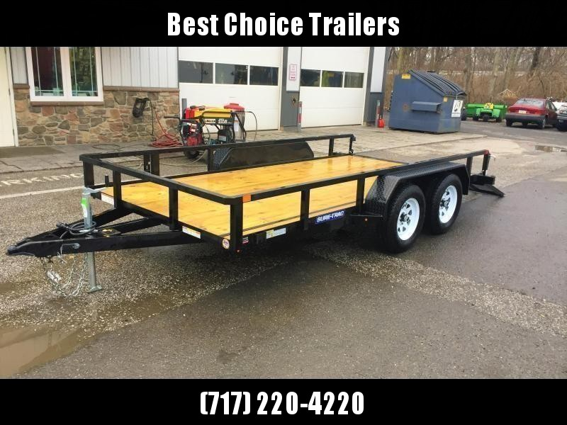 """2020 Sure-Trac 7x18' Tube Top Utility Landscape Trailer 7000# GVW * 3x4"""" ANGLE FRAME * 2"""" TUBE TOP RAIL * 2X2"""" TUBE GATE C/M + SPRING ASSIST + FOLD FLAT * TOOLESS GATE REMOVAL * SPARE MOUNT * PROTECTED WIRING * SET BACK JACK * TRIPLE TUBE TONGUE"""