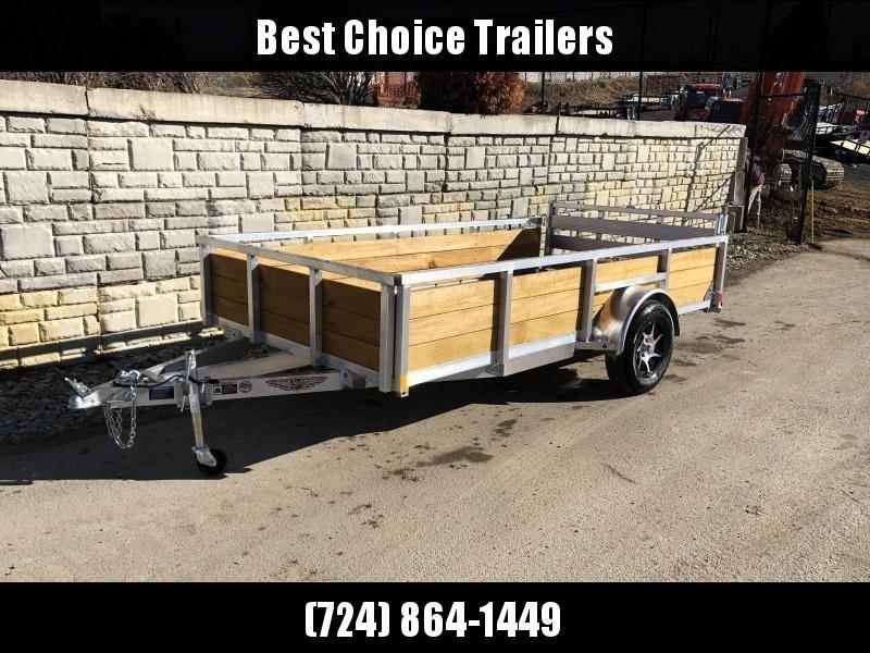 "2020 H&H 76x10' Aluminum Wood High Side Utility Landscape Trailer 2990# GVW * 2' HIGH SIDES * BI FOLD GATE * ALUMINUM WHEELS * TUBE TOP * TRIPLE TUBE TONGUE * TUBE TONGUE * SWIVEL JACKS * STAKE POCKETS * EXTENDED 54"" GATE"
