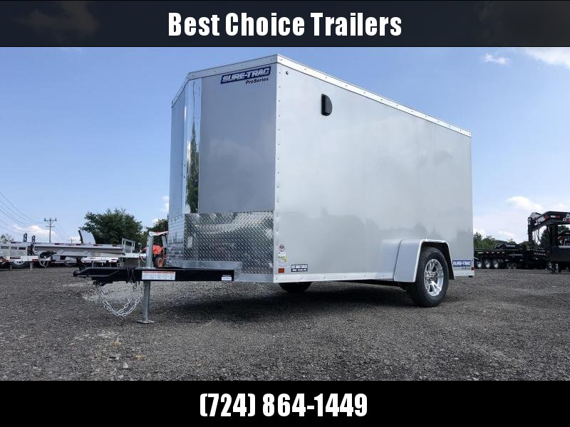 2020 Sure-Trac 6x12' STW Enclosed Cargo Trailer 2990# GVW * SILVER * RAMP DOOR