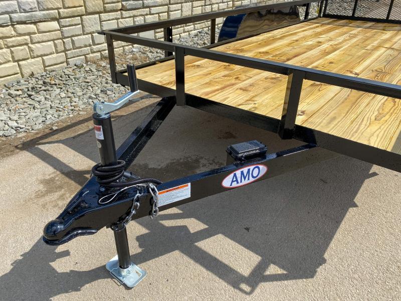 2020 AMO 76x14' Angle Iron Utility Landscape Trailer 7000# GVW